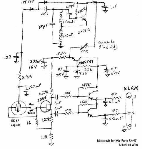 title change  mic capsule voltage oscillator